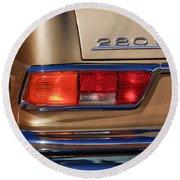 1971 Mercedes-benz 280se 3.5 Cabriolet Taillight Emblem Round Beach Towel