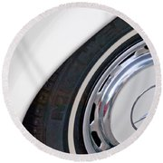 1971 Mercedes-benz Wheel Emblem Round Beach Towel