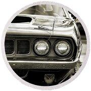 1971 Plymouth Cuda 383 Round Beach Towel