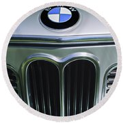 1972 Bmw 2000 Tii Touring Grille Emblem Round Beach Towel
