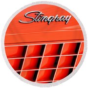 1972 Chevrolet Corvette Stingray Emblem 3 Round Beach Towel