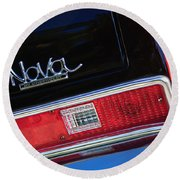 1972 Chevrolet Nova Ss Taillight Emblem -0355c Round Beach Towel