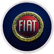 1972 Fiat Dino Spider Emblem Round Beach Towel