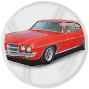 1972 Pontiac Lemans Round Beach Towel