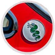 1974 Alfa Romeo Gtv Emblem  Round Beach Towel