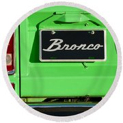 1977 Ford Bronco Taillight Round Beach Towel