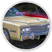 1978 Cadillac Eldorado Round Beach Towel