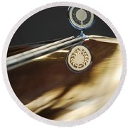1979 Clenet Hood Ornament -183c Round Beach Towel