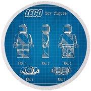 1979 Lego Minifigure Toy Patent Art 1 Round Beach Towel