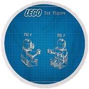 1979 Lego Minifigure Toy Patent Art 3 Round Beach Towel