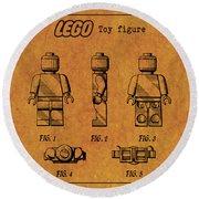 1979 Lego Minifigure Toy Patent Art 4 Round Beach Towel