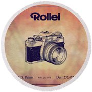 1979 Rollei Camera Patent Art 1 Round Beach Towel