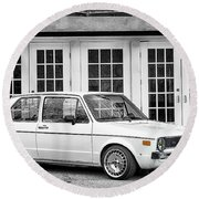 1979 Vw Rabbit IIi Round Beach Towel