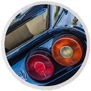 1980 Ferrari 308 Gtsi Taillight Emblem -0036c Round Beach Towel