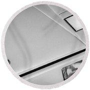 1982 Lamborghini Countach 5000s Hood Emblem -1518bw Round Beach Towel