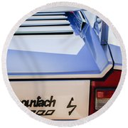 1982 Lamborghini Countach 5000s Taillight Emblem -0453c Round Beach Towel