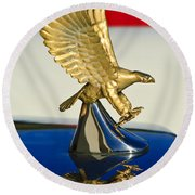 1986 Zimmer Golden Spirit Hood Ornament Round Beach Towel