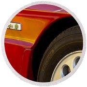 1988 Alfa Romeo Spider Quad Emblem Round Beach Towel by Jill Reger