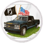 1988 Chevrolet M I A Tribute Round Beach Towel