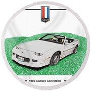 1989 Camaro Convertible Round Beach Towel