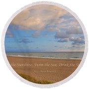 199- Ralph Waldo Emerson Round Beach Towel
