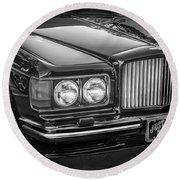 1990 Bentley Turbo R Bw Round Beach Towel