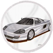 1991 Mercedes Benz C 112 Concept Round Beach Towel