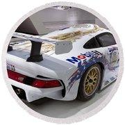 1996 Porsche 911 Gt1 Round Beach Towel