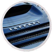 1997 Ferrari F 355 Spider Rear Emblem -153c Round Beach Towel