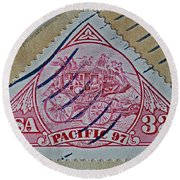 1997 Pacific Stagecoach Stamp Round Beach Towel