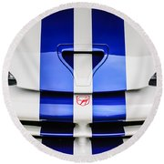1998 Dodge Viper Gts-r Grille Emblem -0329c Round Beach Towel