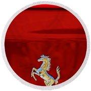 1999 Ferrari 550 Maranello Emblem -651c Round Beach Towel