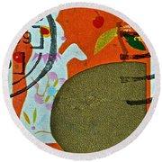 1999 Hong Kong Lunar New Year Stamp Round Beach Towel
