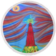 1kin Round Beach Towel