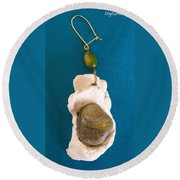 Aphrodite Earring Round Beach Towel