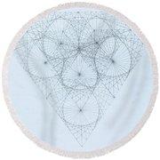 Diamond Quanta Round Beach Towel