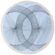 Magnetism Round Beach Towel