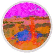 0173 Abstract Thought Round Beach Towel