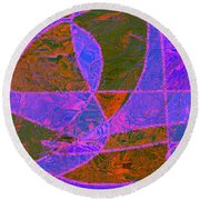 0188 Abstract Thought Round Beach Towel
