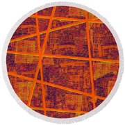 0191 Abstract Thought Round Beach Towel