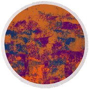 0199 Abstract Thought Round Beach Towel