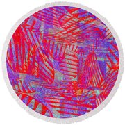 0218 Abstract Thought Round Beach Towel