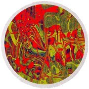 0477 Abstract Thought Round Beach Towel