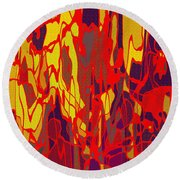 0656 Abstract Thought Round Beach Towel