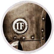 1913 Isotta Fraschini Tipo Im Emblem Round Beach Towel