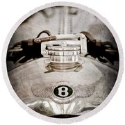1925 Bentley 3-liter 100mph Supersports Brooklands Two-seater Radiator Cap Round Beach Towel