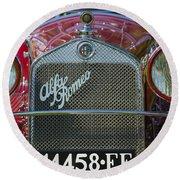 1931 Alpha Romeo Type 6c 1750 Gran Sport Round Beach Towel