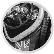 1931 Bentley 4.5 Liter Supercharged Le Mans Steering Wheel -1255bw Round Beach Towel