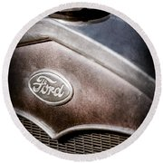 1931 Ford Grille Emblem Round Beach Towel