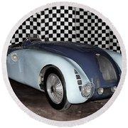 1936 Bugatti 57g Tank Round Beach Towel